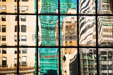 bygninger makrooptagelse naerbillede moderne vindue refleksion