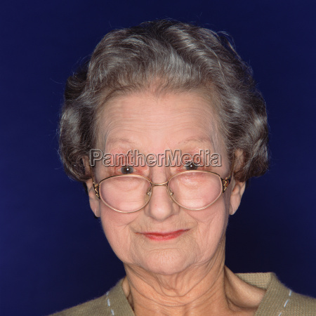 portrait of a senior woman with