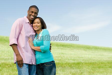 couple in a field