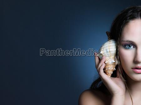 klang kvindelig ansigt portraet musling aks