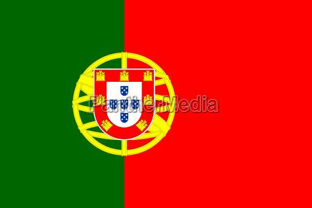 portugals flag i korrekte proportioner og