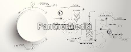 vector abstrakt baggrund teknologi innovation