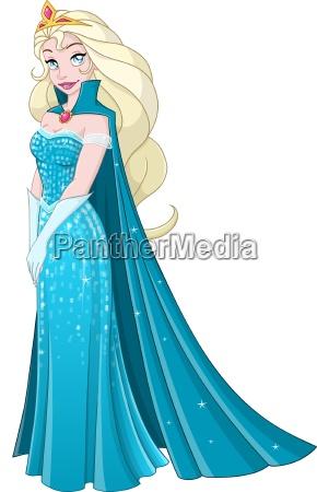 snow princess i bla kjole side