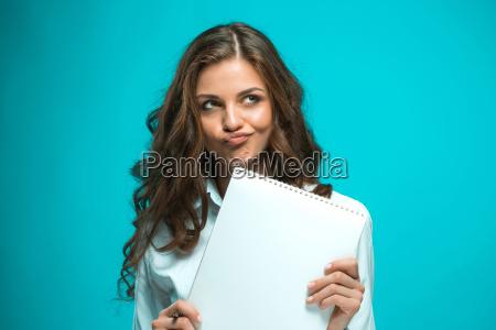 kvinde studere studie bla laerer smukke