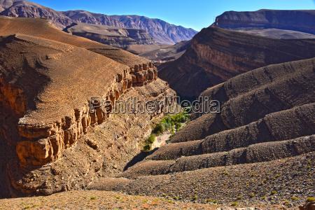 landskab udsigt over hoje atlas bjerge