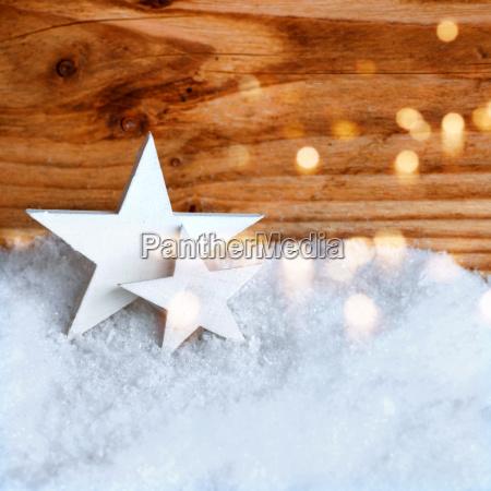hvid jul stjerner i sneen