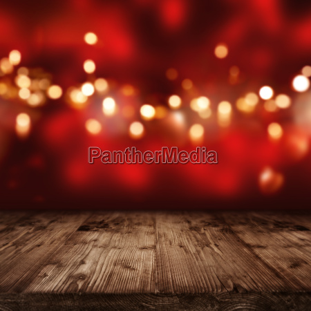 red background with golden lights