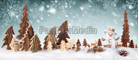 trae dekoration baggrund med sne design