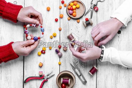 farve arbejdsplads armband dekoration tilbehor halskaede