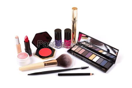 indsamling af makeup kosmetik isoleret pa