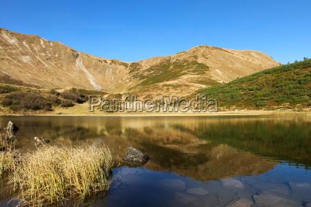 bjerge alper spejling allgaeu ferskvand so