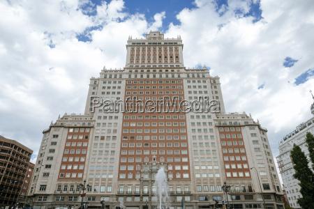 hiszpania madryt edificio espana plaza de
