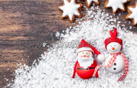 juledekoration pa trae baggrund med kopi