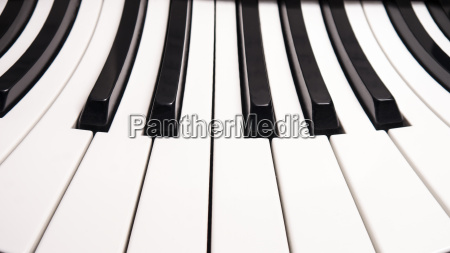 curved piano keys