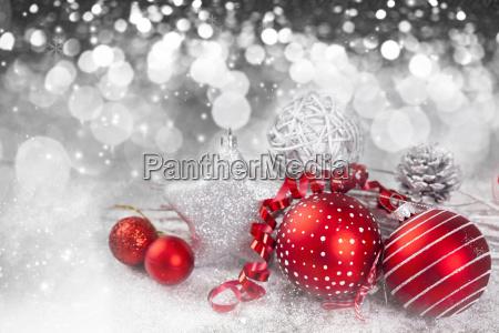 jule baggrund med rode dekorationer