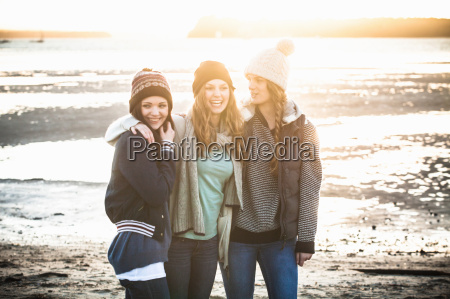 portrait of three young adult women