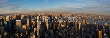 panoramaudsigt fra empire state building manhattan