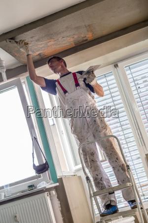 pudser renovering indendors vaegge og lofter