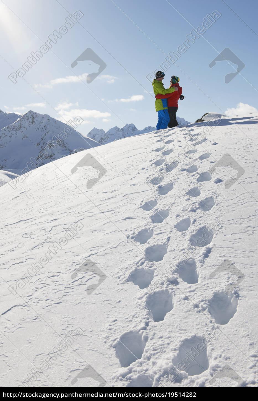 par, kramme, i, sne, kuhtai, Østrig - 19514282