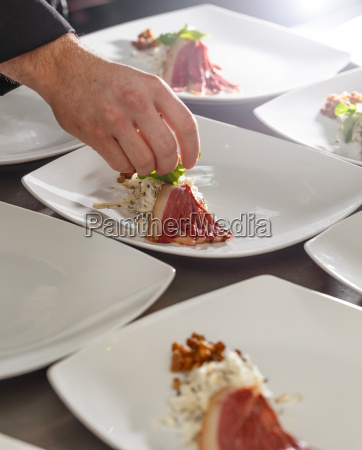 kok udsmykning appetitvaekker plade