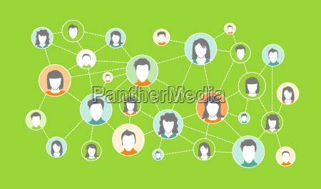 grafisk repraesentation sociale medier netvaerk