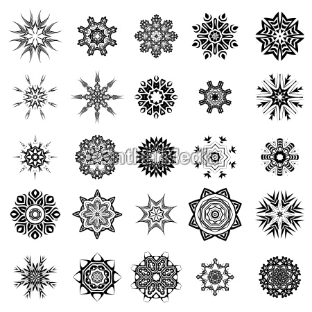 set of different tribal rosettes tattoo