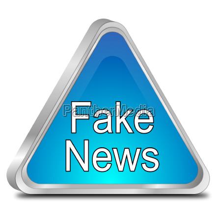 fake advarsel nyheder sign 3d