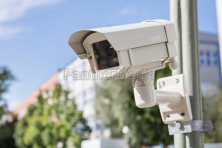 sikkerhed kamera pa gaden