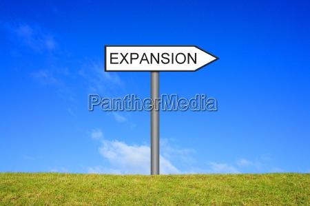 sign vejskilt viser ekspansion