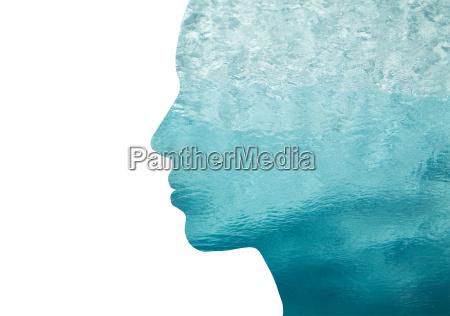 kvinde profil bla mennesker folk personer