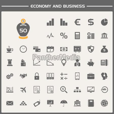 conjunto de iconos de economia y