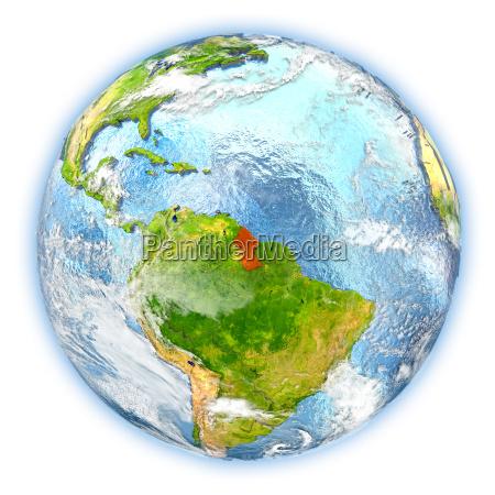 guyana pa jorden isoleret