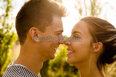 perfekter moment fuer einen kuss