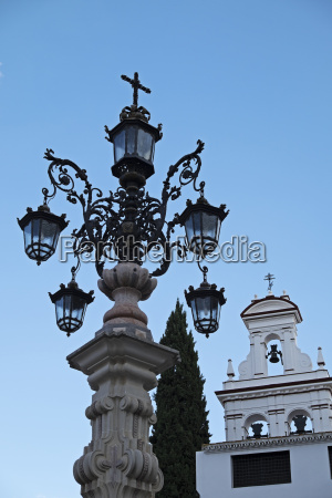 lamp post and church bells in