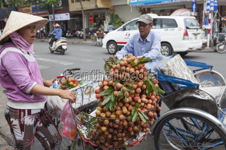 en cyklus rickshaw chauffor stopper for