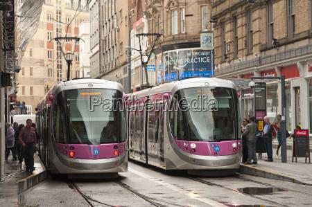 tram system in birmingham which runs