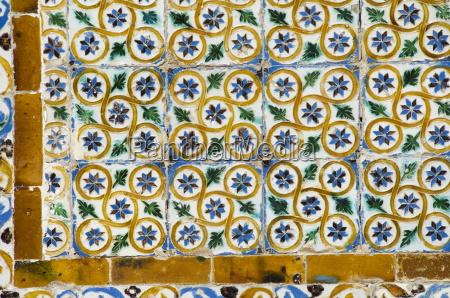 azulejos tiles in the mudejar style