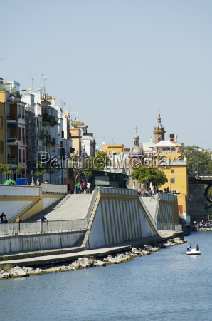 triana district on left and the