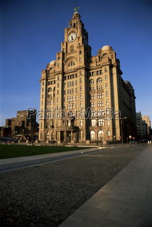 liver building liverpool merseyside england united