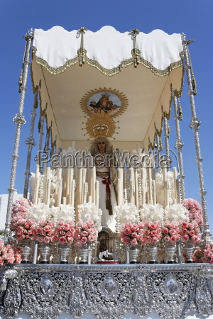float of the virgin mary easter