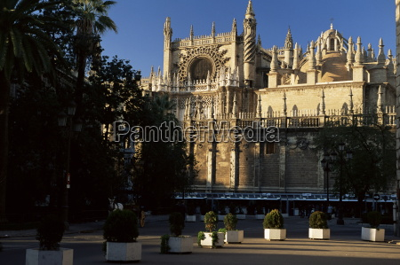 southern aspect seville cathedral dating from