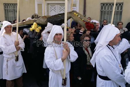 procession holy week cagliari sardinia italy
