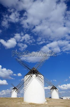 old traditional windmills campo de criptana