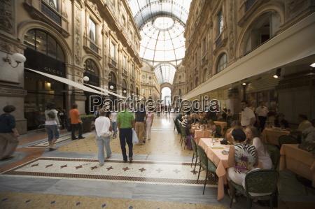 vittorio emanueles gallery milan lombardy italy