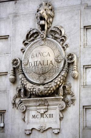 banca ditalia milan lombardy italy europe