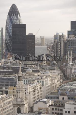 city of london skyline including the