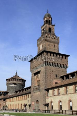 the sforzas castle castello sforzesco milan
