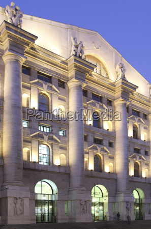 stock exchange building milan lombardy italy