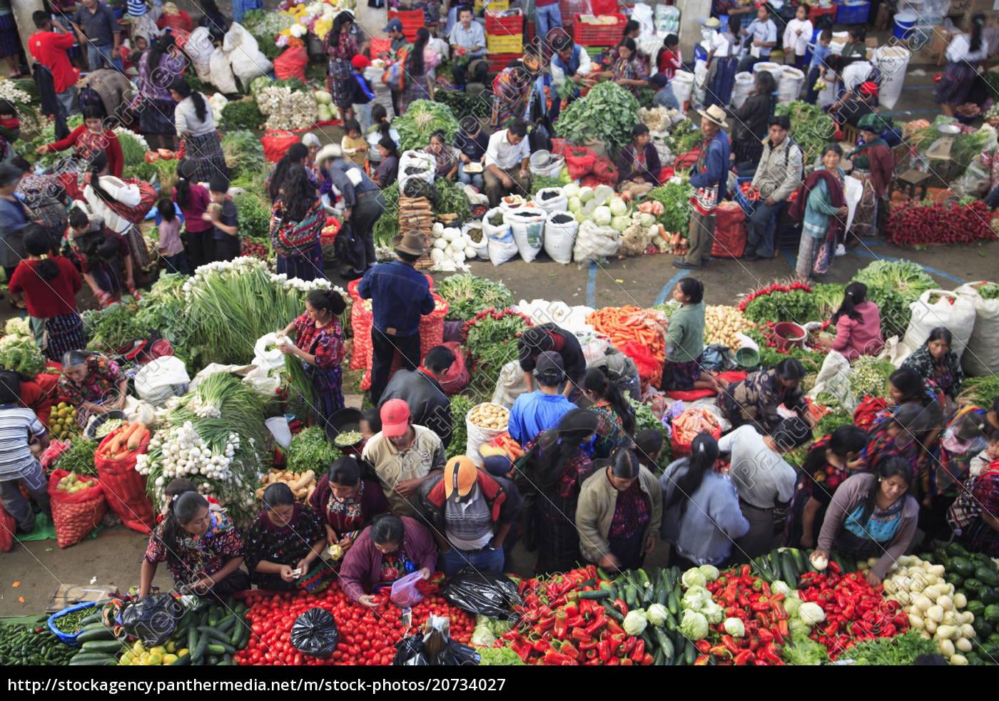 producere, marked, chichicastenango, guatemala, mellemamerika - 20734027