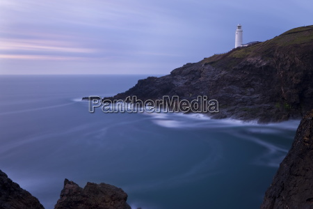 trevose lighthouse at dusk trevose head